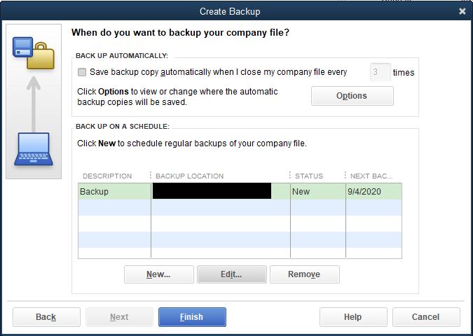 Quickbooks Backup