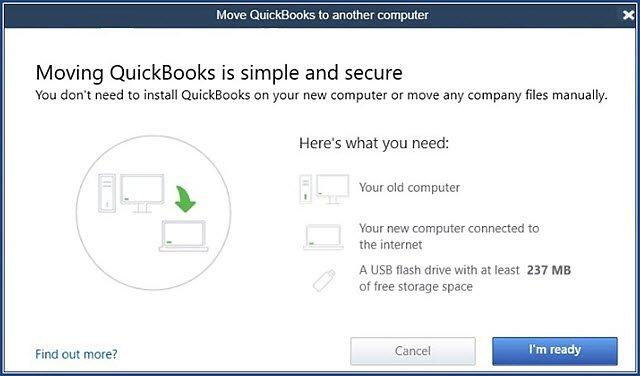 transfer Quickbooks Data to New PC