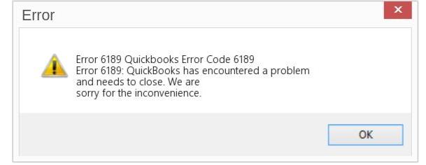QuickBooks Error 6189 816 Message