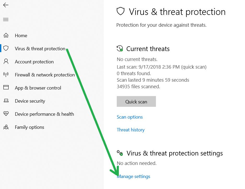 Turning Off The Antivirus