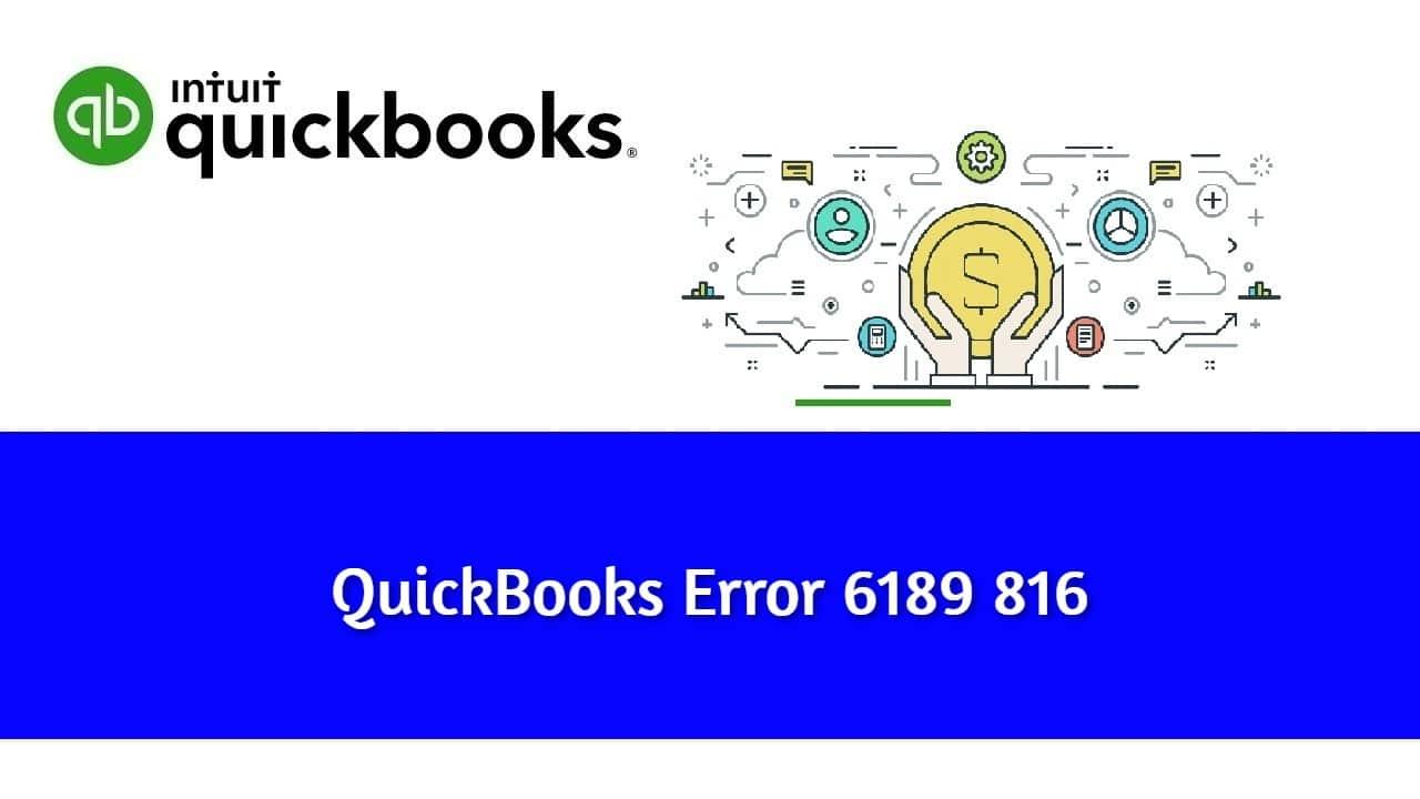 QuickBooks Error 6189 816