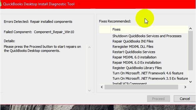 Quickbooks install diagnostic tool: Quickbooks 2015 error 1321