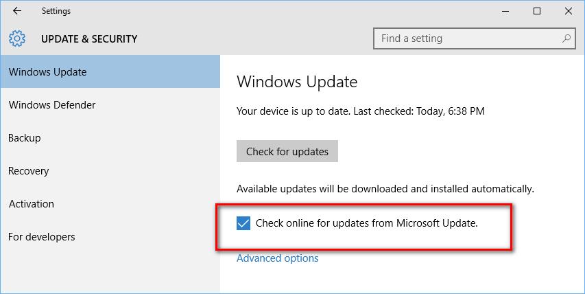 Windows update: Quickbooks error 1603 Windows 10