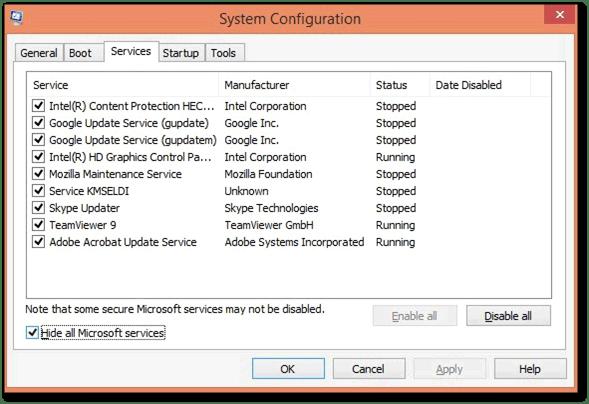 Selective startup mode: error 1603 when updating Quickbooks